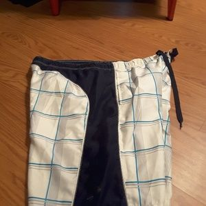 OP Blue plaid board shorts swimwear size L (36/38)